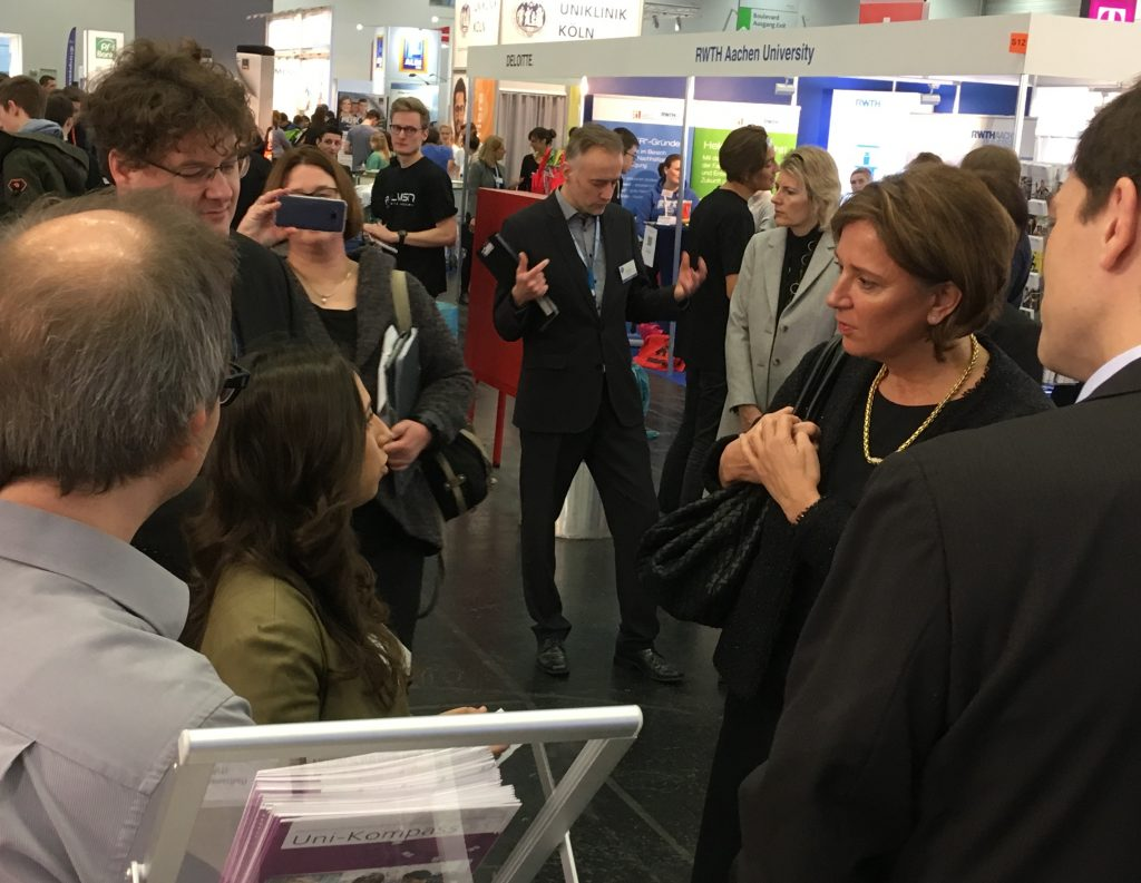 Ministerin trifft auf Talentscouting